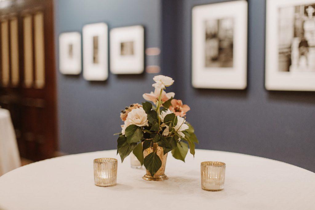 Cocktail arrangement in Exhibit Gallery